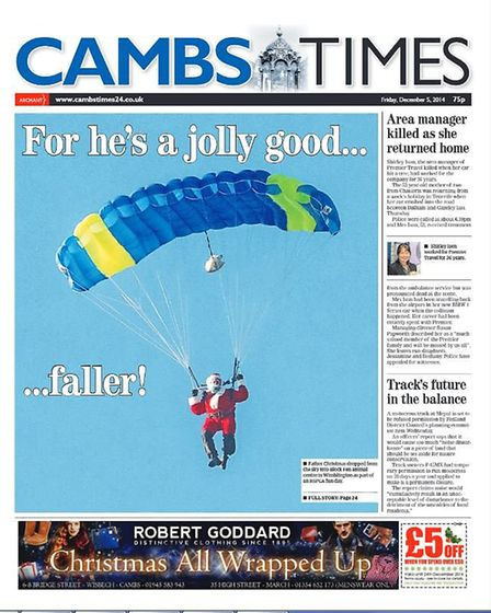 The Cambs Times in 2014.