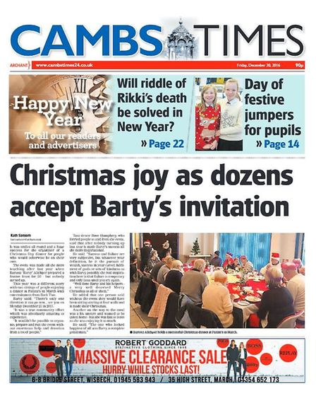The Cambs Times in 2016.