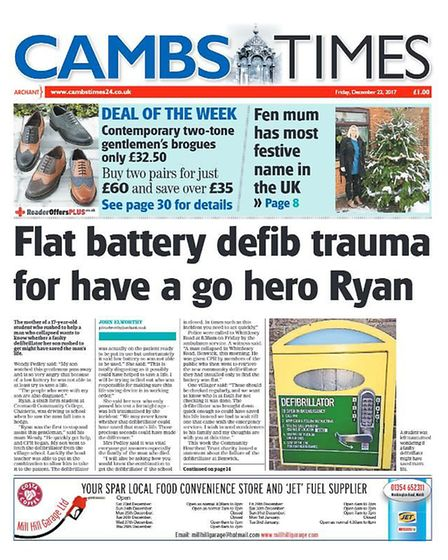 The Cambs Times in 2017.