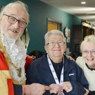Surprise appearance at Littleport parkrun from Mayor of Ely Mike Rouse who presented Lyn with a meda
