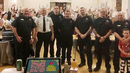 Littleport Fire Station's annual Christmas charity fundraiser last night. Picture: CAMBS FIRE