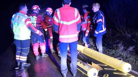 Water rescue! Police and firefighters worked to save drivers who hedged their bets going through Wel