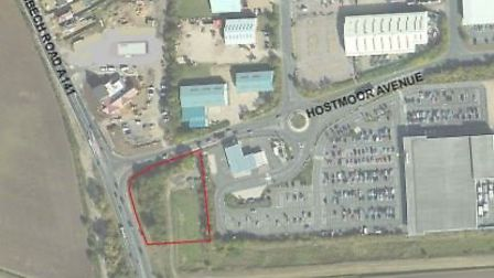 The proposed McDonald's restaurant on the junction at Hostmoor Avenue and Wisbech Road in March. Pic