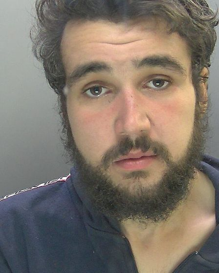 Jamie Williams (pictured) is banned from every single shop in Cambridge after he was convicted of sh