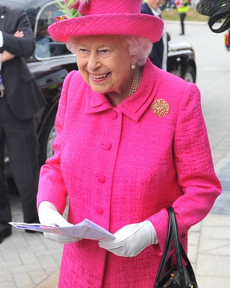 HM The Queen visits Papworth Hospital in July 2019. Harry was lucky enough to be up close with HM wh