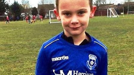 Kaleb Ablett played for March Park Rangers under 9's, who have organised the fundraiser. Picture: GO