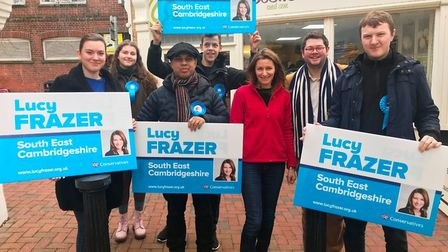 Lucy Frazer MP on the campaign trail in December. Picture: FACEBOOK/LUCY FRAZER MP