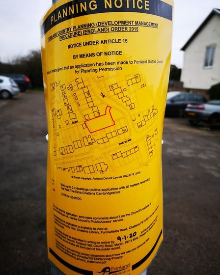 The Elms car park in Chatteris, Fenland Council wanto to use the land for housing but residents, and