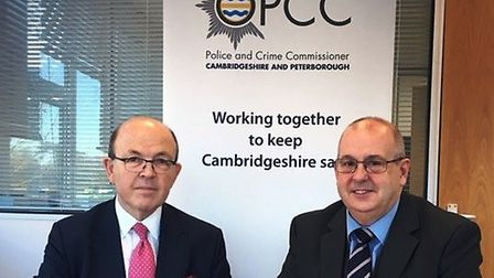 Ray Bisby taking over in December as the acting PCC. The taking of the oath was overseen by Justice