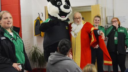 The Mayor of Ely met with Bertie the Badger and the local brigade who have recruited more youngsters