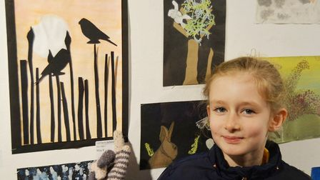 Wonderful display of local schools art at the Babylon Gallery in a new exhibition sponsored by Ely H
