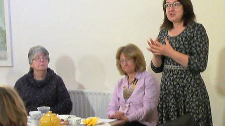 Ely Inner Wheel Club welcomed Marney Connor and Sue Booth from family support charity Home-Start in