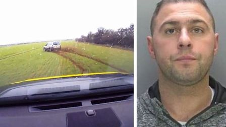 Suspected hare courser Nelson Hedges has been jailed after being caught by police following a 100mph