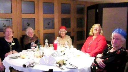 Twenty-two members enjoyed the Ely Inner Wheel Club's Christmas dinner, which was held at The Anchor