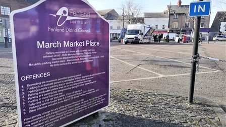 Two stalls at March marketplace on Wednesday, February 5. Picture: Archant