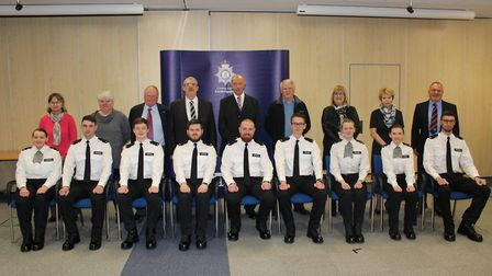 Passing out ceremony held at force HQ today (February 3) and heralding a new tradition for the force