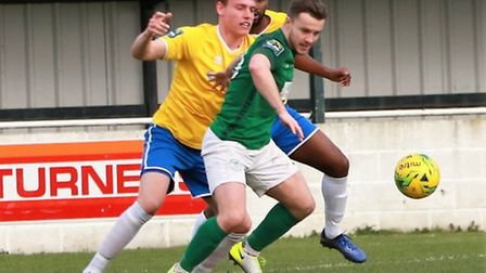 Sam Mulready in action for Soham Town Rangers. Picture: ROBERT CAMPION