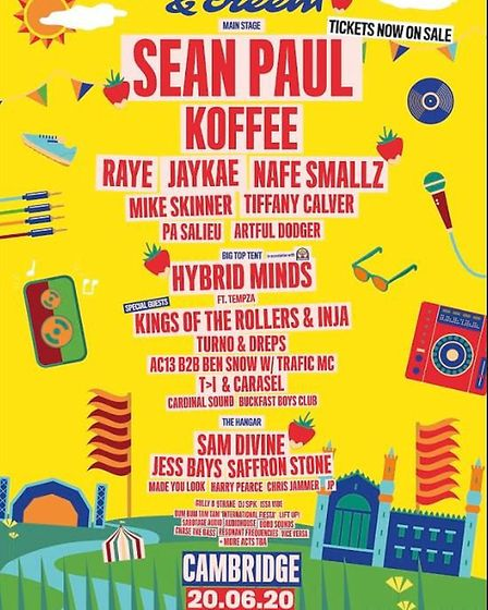 Cambridge's Strawberries & Creem festival has revealed its 2020 line-up. Picture: STRAWBERRIES & CRE