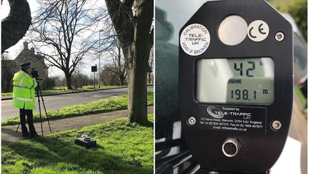 Speed checks in East Cambridgeshire catch drivers nearly 20mph over the limit. Picture: CAMBS POLICE