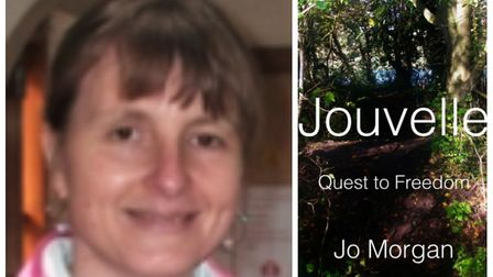 Ely author Jo Morgan (left) and her previous book 'Jouvelle: Quest to Freedom'. Pictures: SUPPLIED/J