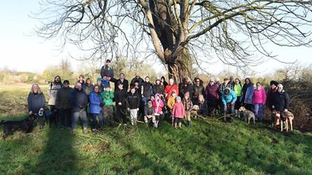 The latest Save Wenny Road Meadow demonstration in January. Picture: Rob Morris