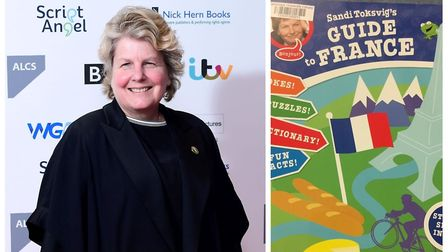 Sandi Toksvig's (left) book 'Toksvig's Guide to France' has become the one millionth entry at Cambri
