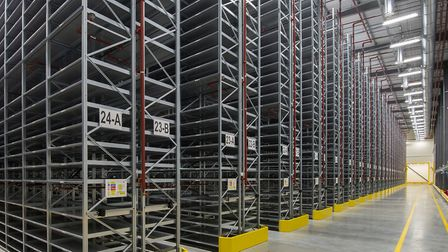 Inside the storage facility in Ely, which can house up to 4.5 million books belonging to Cambridge U