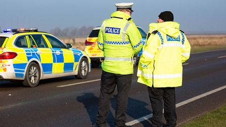 A man died after a collision on the A16 at Newborough. Pictures: SUPPLIED