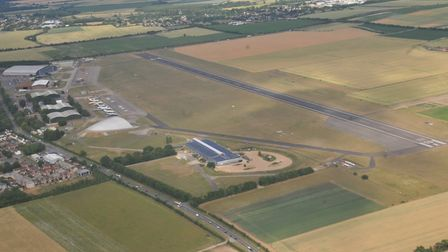 IWM Duxford, as viewed from the Essex & Herts Air Ambulance. Picture: JP Asher
