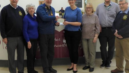 Hospital donation from generous March Lions at Papworth. Picture: DEREK RUTTER