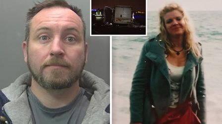 Adam White (left) has been jailed for nine years after killing mother-of-two Katy Cunningham (right)
