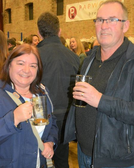 Real ale lovers raise a glass at 11th Elysian Winter Beer Festival. Picture: MIKE ROUSE