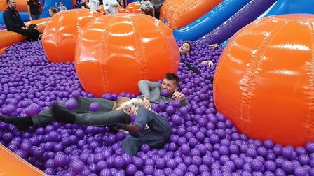 InflataNation Peterborough is a high-energy stamina-testing playground for all ages that?s not to be