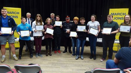 March Lions awarded young leaders in service certificates at their presentation night. Picture: MARC