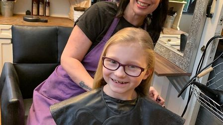 March schoolgirl Florence Lambert raised hundreds of pounds for charity after having 10 inches of ha