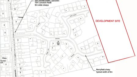 Berryfield development where 28 houses were approved six years ago.But a viability study has now rul