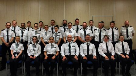 Introducing 30 more neighbourhood police officers for Cambridgeshire. Picture: Supplied/Cambs Cops
