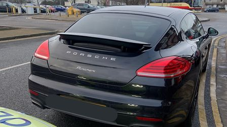 A Porsche Panamera worth around 60,000 was seized by cops in Cambridgeshire after the driver was m