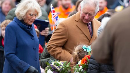 The Prince of Wales was joined for some of the visit by the Duchess of Cornwall on a visit in 2018