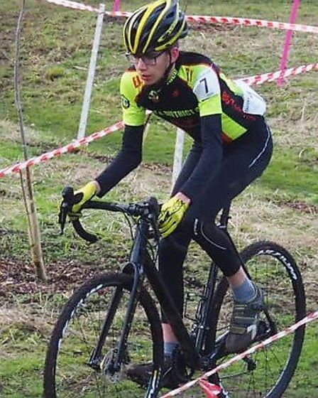 Isaac Barton in the under 14s race. Picture: MARTIN LEWIS