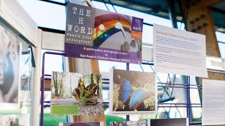 The H-word exhibition launched by East Anglia''s Children''s Hospices has come to the Fens. Pictures