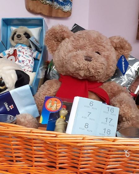 Some of the prizes on offer at the Valentine's fundraiser in Chatteris. Picture: CAROLINE DE LLOYD