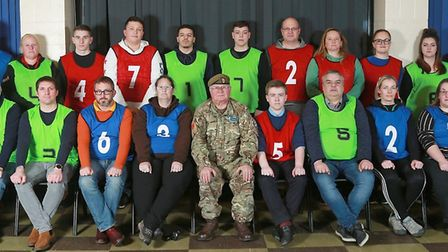 The volunteers that took part in Cambridgeshire Army Cadet Force's familarisation and assessment cou