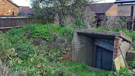 The former air raid shelter in Whittlesey whose history has been recorded prior to it being removed