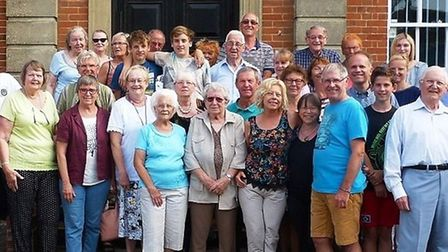 The Fenland Twinning Association outside Fenland Hall in March. Picture: FENLAND DISTRICT COUNCIL