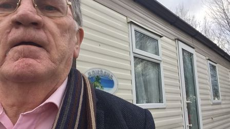Editor John Elworthy after leaving the Kudilatts home on Sunday. He tweeted about their plight and w