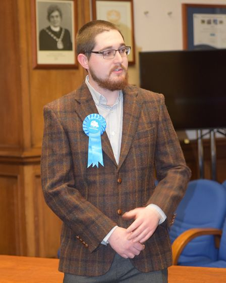 Newly elected March town councillor Clinton Elkin. Picture; MARK PURSER