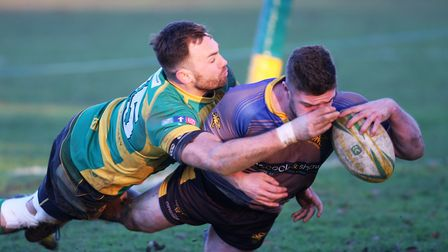 Alfie Ramswell dives over to score a try (pic Steve Wells)
