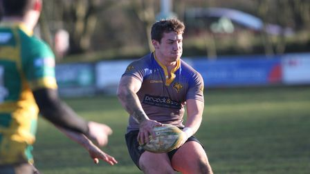 Jim Storey scored two tries for Ely Tigers at Crusaders (pic Steve Wells)