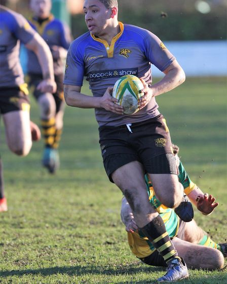 Byron Reed was given his first-team debut for Ely Tigers at Crusaders (pic Steve Wells)